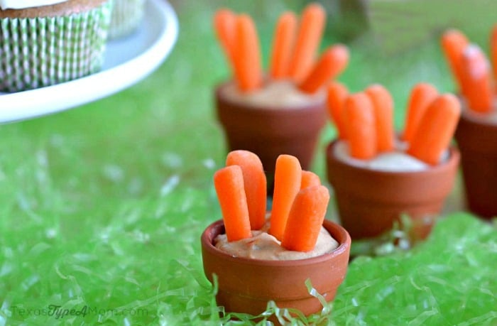 Carrots and Hummus Pots #MMsCarrotCake #ad