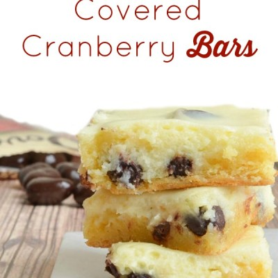 Chocolate Covered Cranberry Bars Recipe