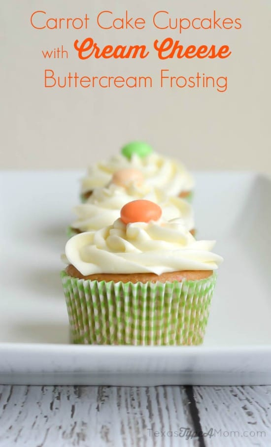 Carrot Cake Cupcakes with Cream Cheese Buttercream Frosting Recipe