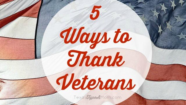 5 Ways to Thank Veterans