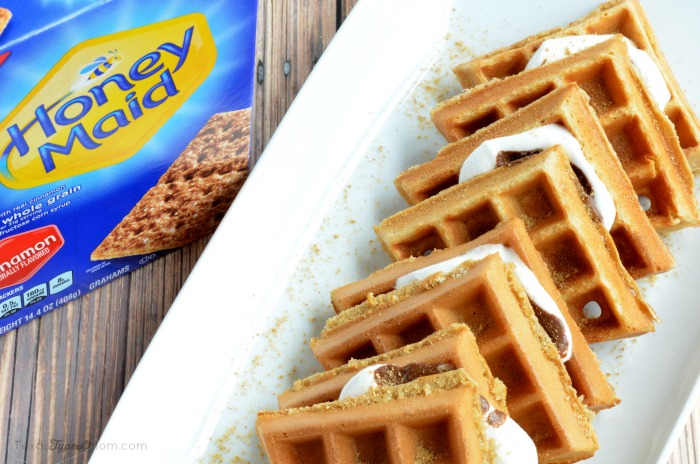 S'mores Waffles Recipe with Graham Crackers