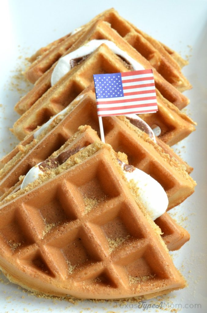 S'mores Waffles for Fourth of July