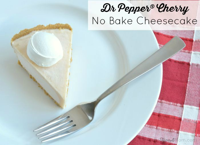 Entertaining this summer? Don't turn on the oven. Try this easy dessert instead - 6 Ingredient Dr Pepper Cherry No Bake Cheesecake recipe!