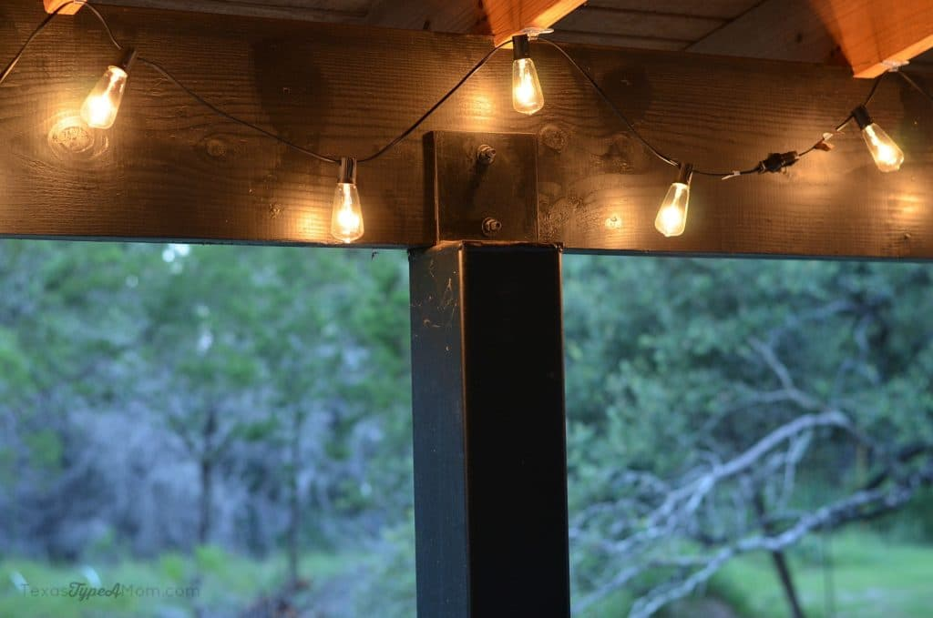 Summer Outdoor Entertaining Patio Light Tutorial