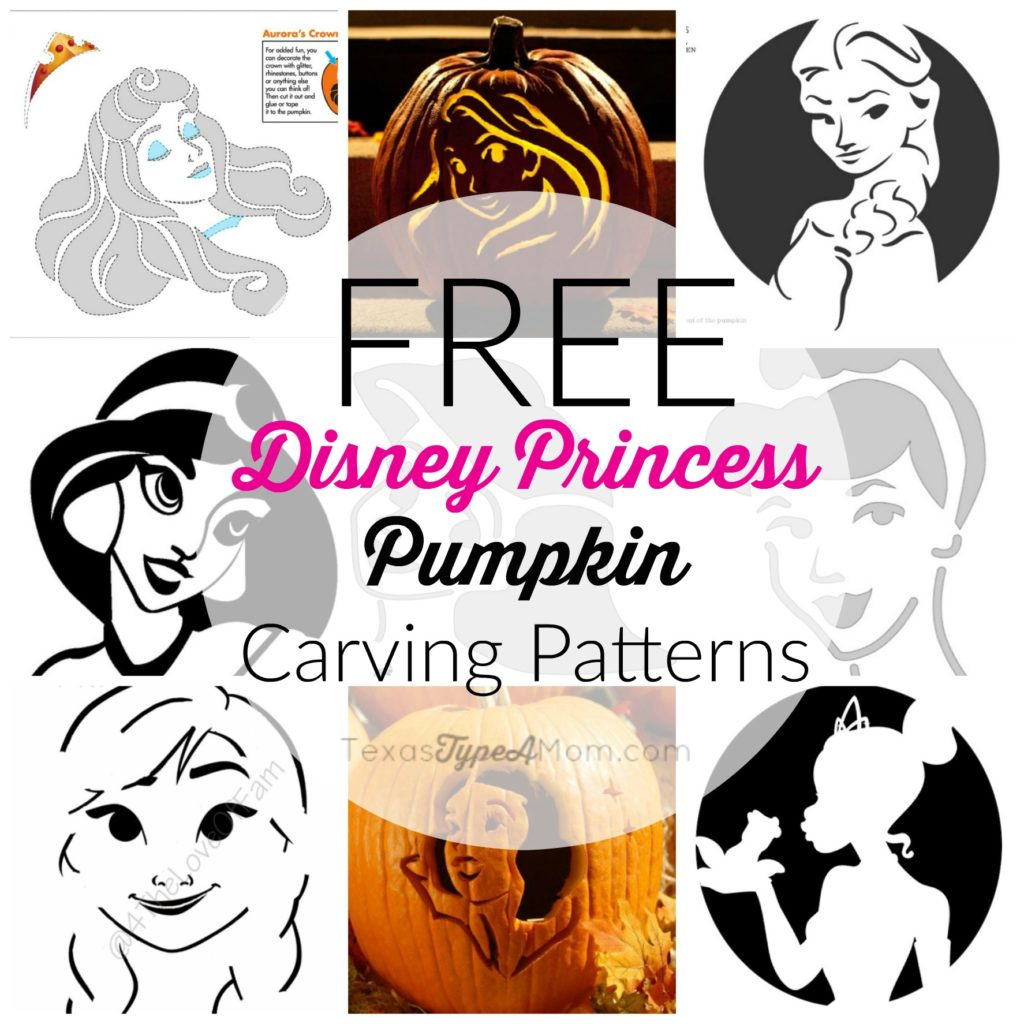 9 Free Disney Princess Pumpkin Carving Patterns
