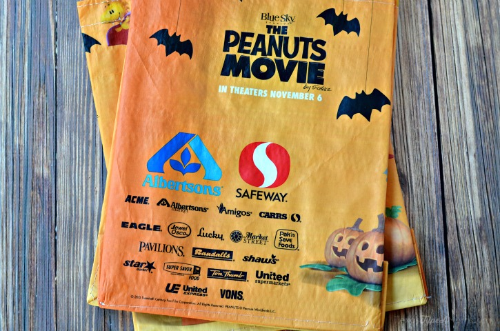 Back of Peanut Trick or Treating Bags
