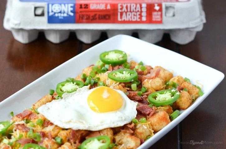 Easy Totchos Recipe with Lonestar Eggs