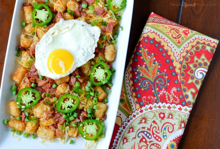 Skip nachos at your next party and serve this Easy Totchos Recipe with Bacon instead!