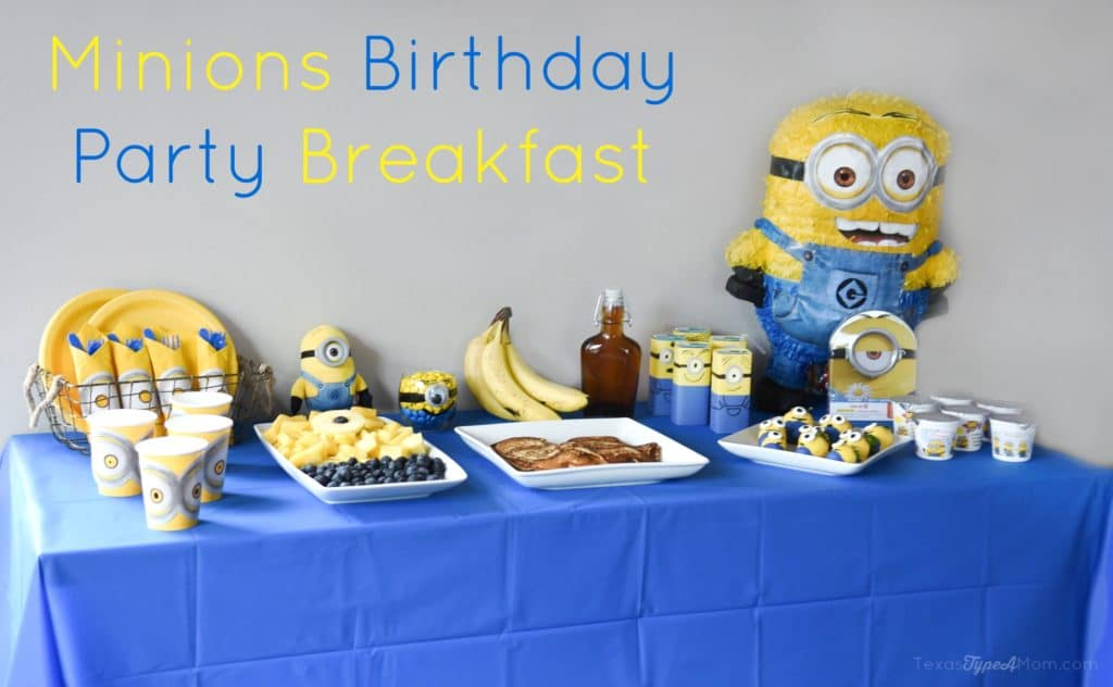 Minions Birthday Party Breakfast plus Minions pancakes recipe