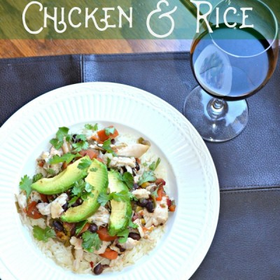 Easy Crockpot Chicken & Rice Recipe