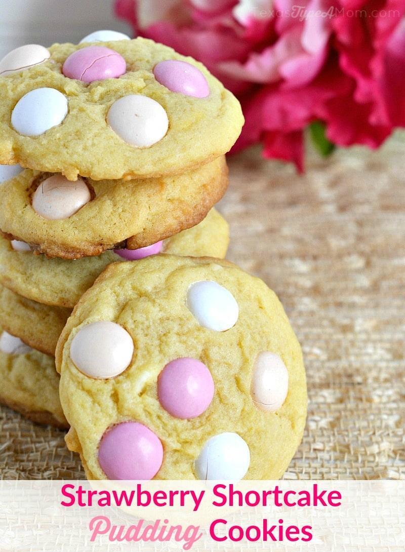 Strawberry Shortcake Pudding Cookies Recipe