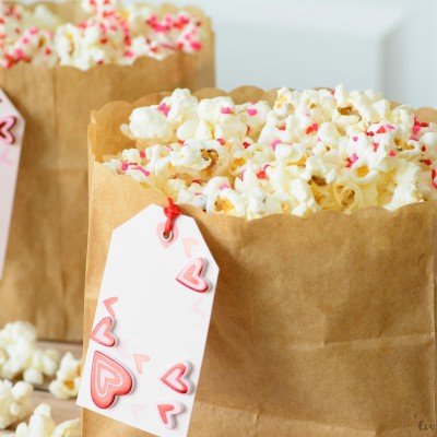 Confetti White Chocolate Popcorn Recipe