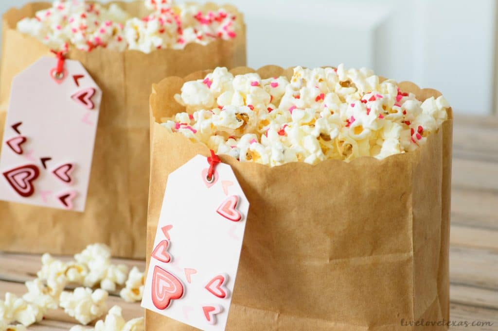 This dessert is the perfect combination of crunchy and sweet. Plus, this Valentine Popcorn recipe is so cute and easy which makes it a no-brainer for any Valentine's Day entertaining!