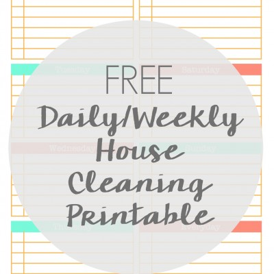 Free Daily Weekly Cleaning Schedule Printable