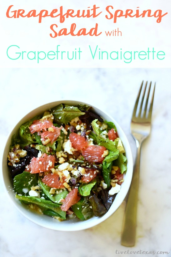 Grapefruit Spring Salad Recipe with Grapefruit Vinaigrette Dressing Recipe