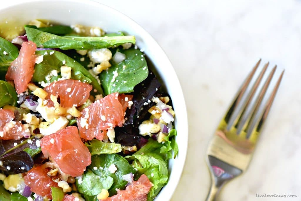 Grapefruit Spring Salad Recipe with Grapefruit Vinaigrette Dressing Recipe