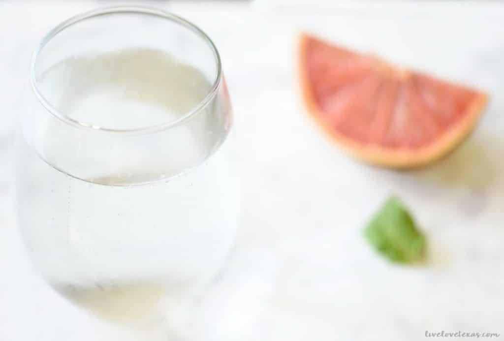 Grapefruit and Mint Infused Water