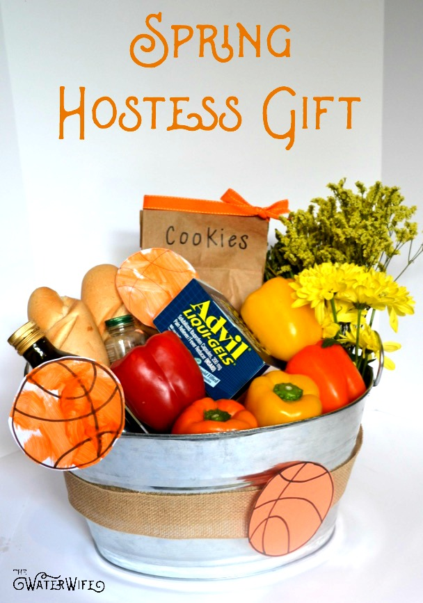 Don't show up empty handed to the next basketball party you attend, bring along this thoughtful Spring Hostess Gift Basket instead!