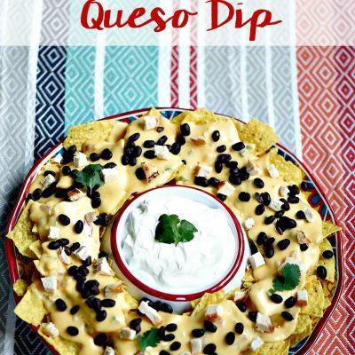Best Tex Mex Nachos + Easy Homemade Queso Dip