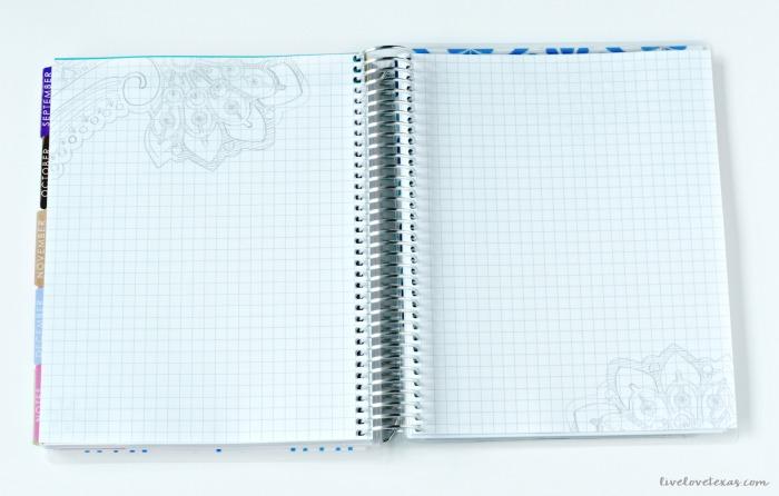 Erin Condren Life Planner Review: Graph Paper