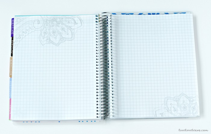 Erin Condren Life Planner Review: Graph Paper