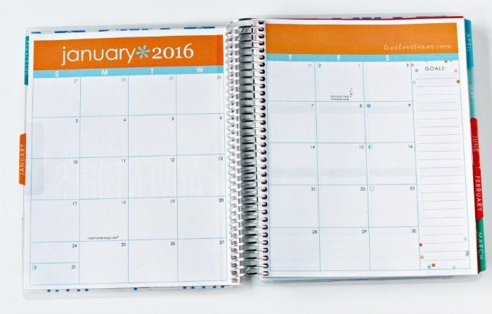 Erin Condren Life Planner Review Month View