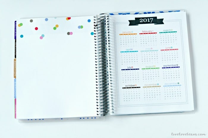 Erin Condren Life Planner Review 2017 Year at a Glance