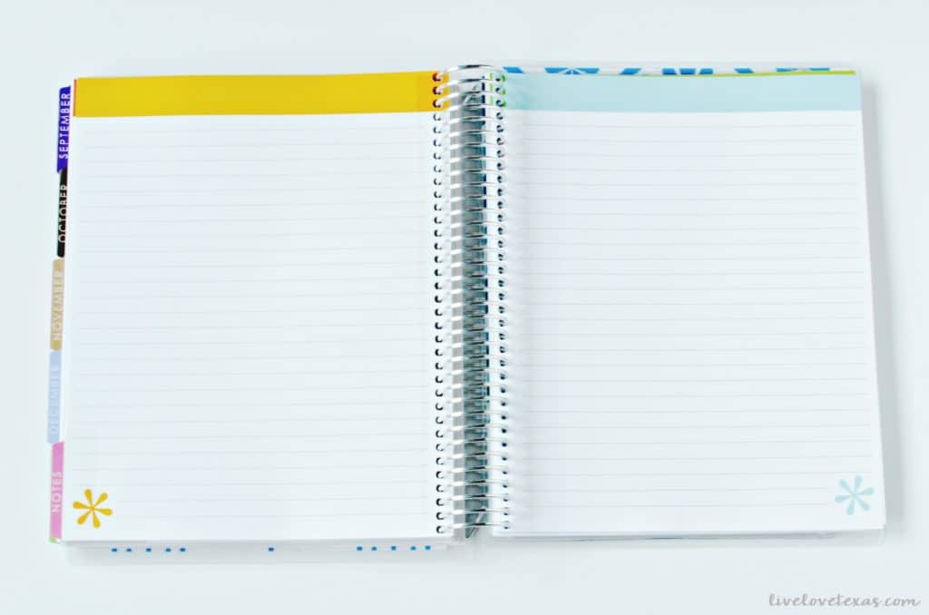 Erin Condren Life Planner Review Lined Pages