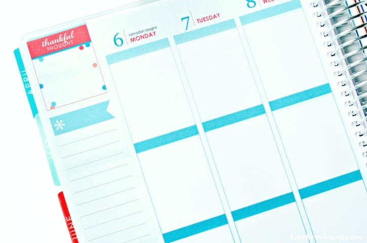 Erin Condren Life Planner Review Inside Left Planning Page