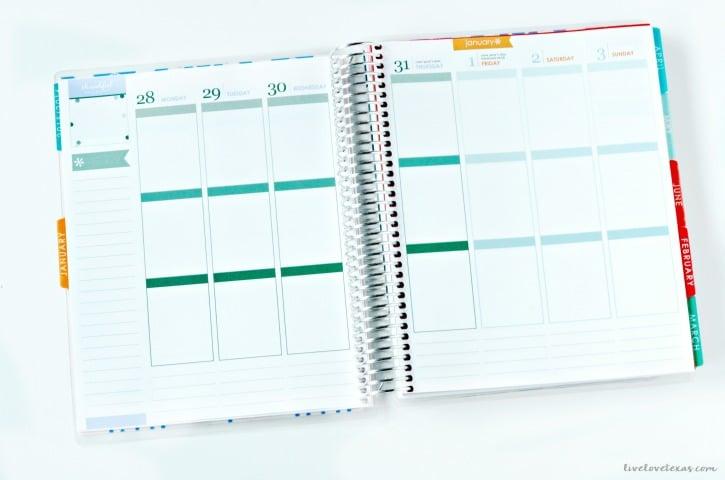 Erin Condren Life Planner Week at a Glance Spread