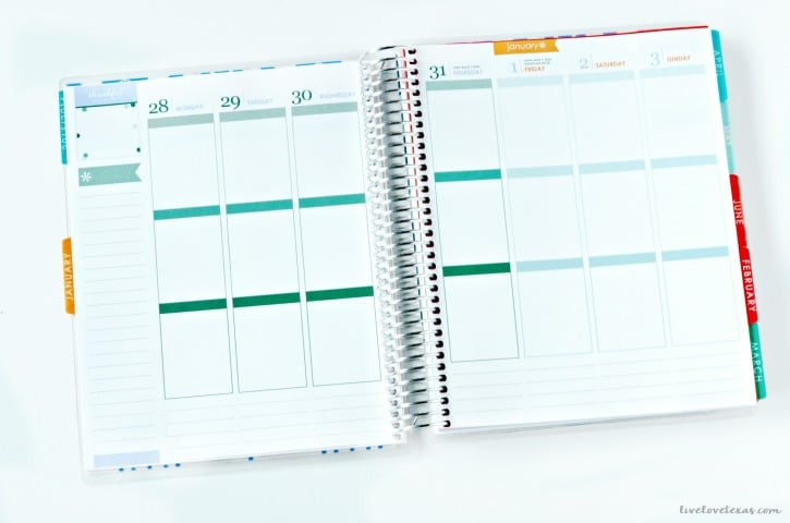 Erin Condren Life Planner Week at a Glance Spread