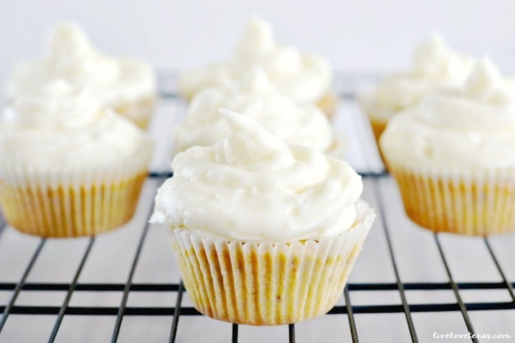 Gluten Free Carrot Cake Cupcakes + Coconut Cream Cheese Frosting