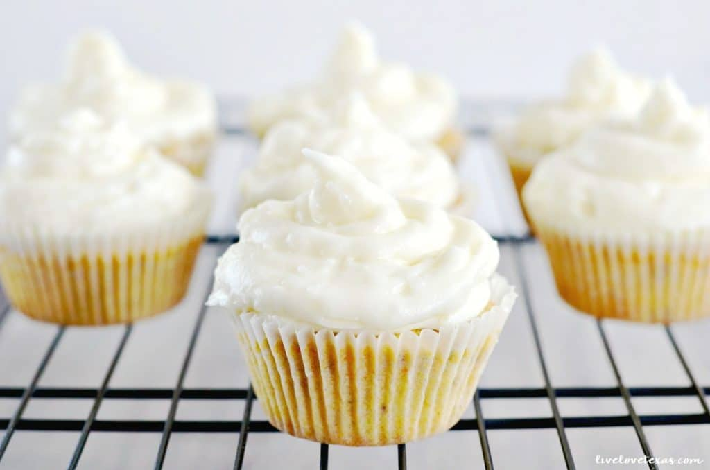Gluten Free Carrot Cake Cupcakes with Coconut Cream Cheese Frosting recipe