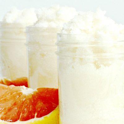 Homemade Grapefruit Sugar Scrub Recipe