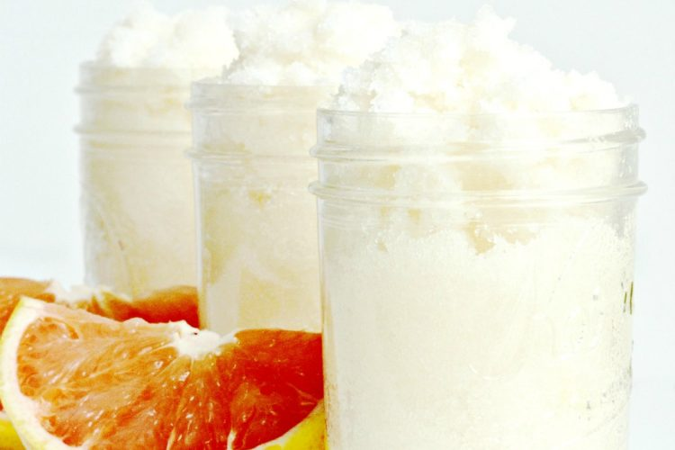 Homemade Grapefruit Sugar Scrub Recipe