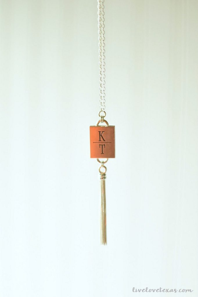 Handmade Monogrammed Silver Tassle Necklace Heidi J Hale Review