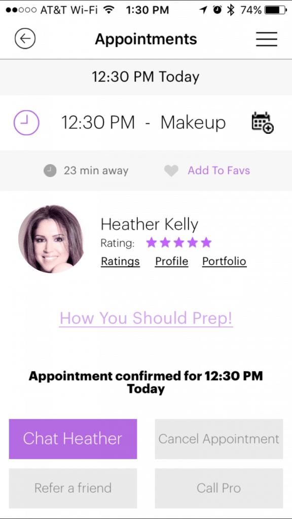 Prive Makeup Application Info