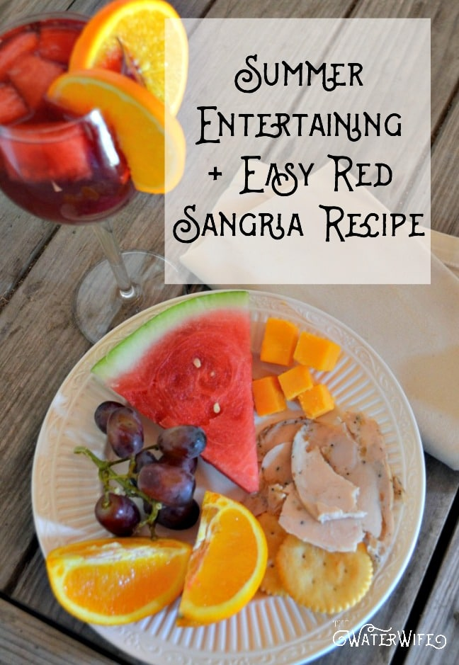 These are fabulous summer entertaining ideas and a super simple, quick and easy red sparkling sangria recipe that you have got to try!