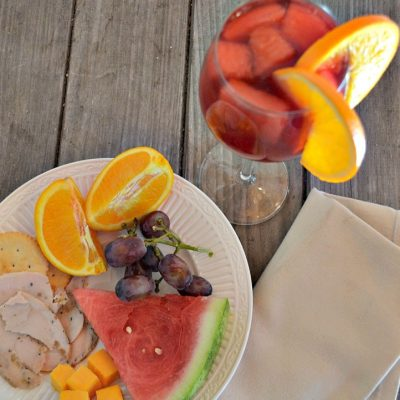Summer Entertaining + Easy Red Sangria Recipe