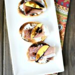 Get ready for summer entertaining with this Easy Crostini Recipe made with goat cheese, pancetta, and fresh peaches!