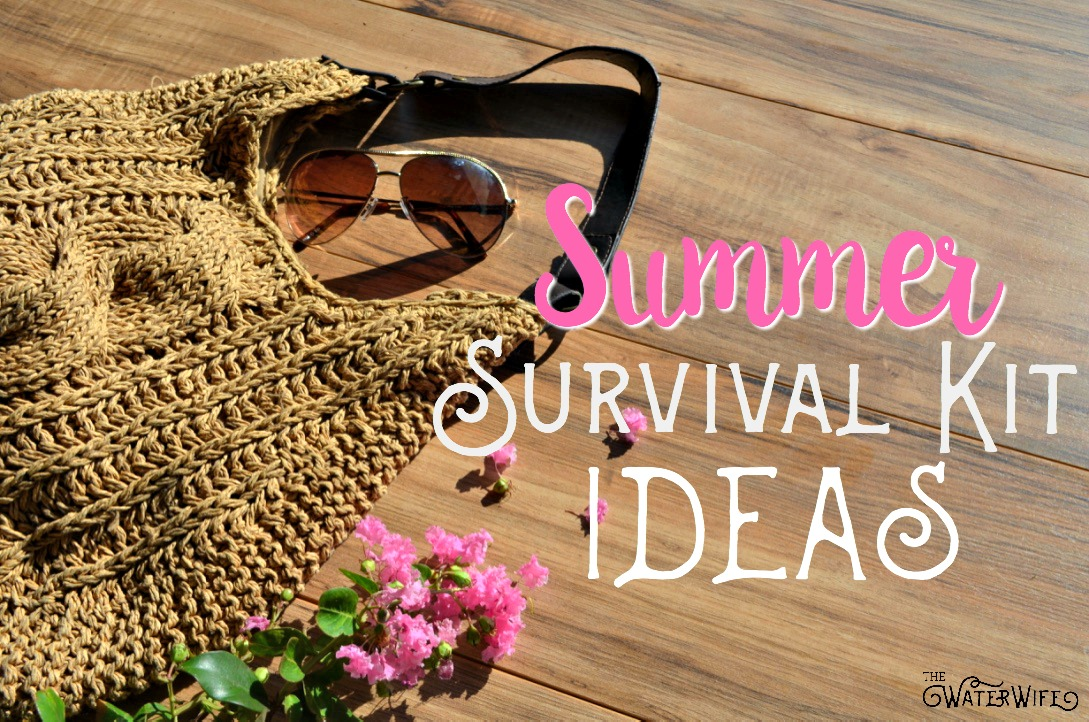 Beat the heat this summer with your own summer survival kit for busy moms and families. Don't find yourself miserable out in this hot summer sun ,pack your own summer survival kit essentials today! Great ideas!!