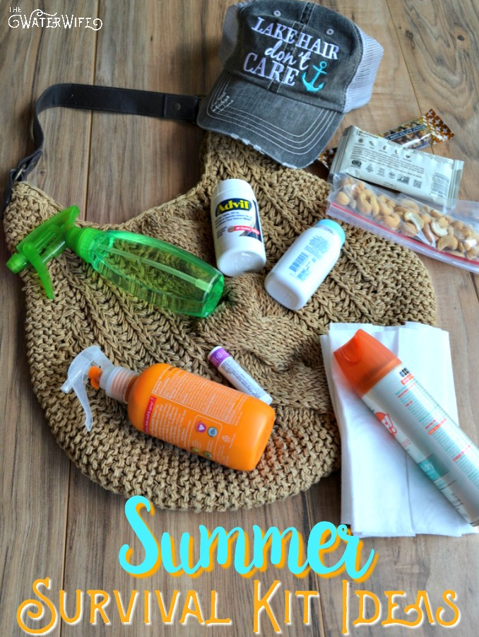 The perfect summer survival kit for moms or anyone out enjoying the summer fun in the sun! Be prepared with these great ideas!