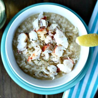 Lobster Risotto Recipe with White Wine