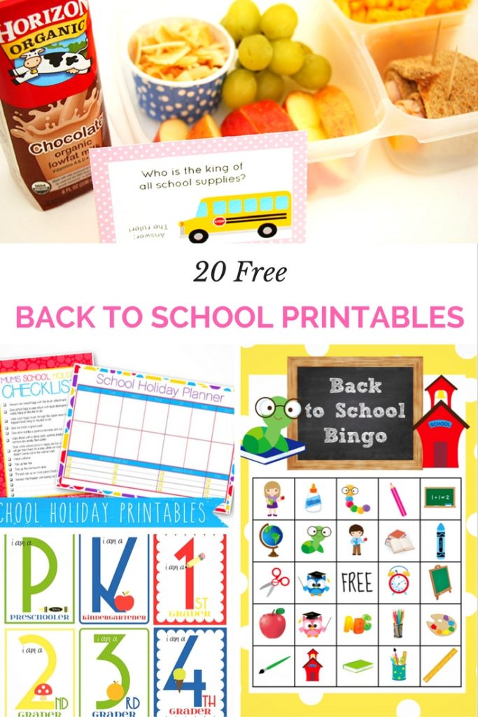 Get organized and ready for the hectic schedule of the season with these 20 Free Back to School Printables!