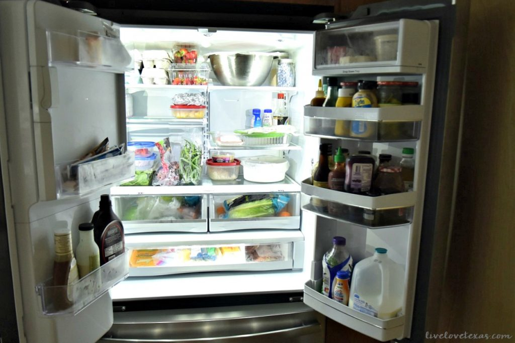 GE Profile Fridge with Built In Keurig Review Interior