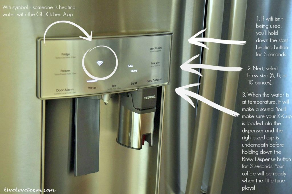 How to Make Coffee with the GE Profile Fridge with Built In Keurig