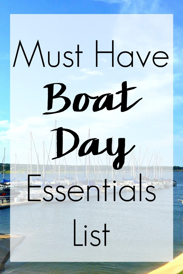 Must Have Boat Day Essentials List Labeled Pin