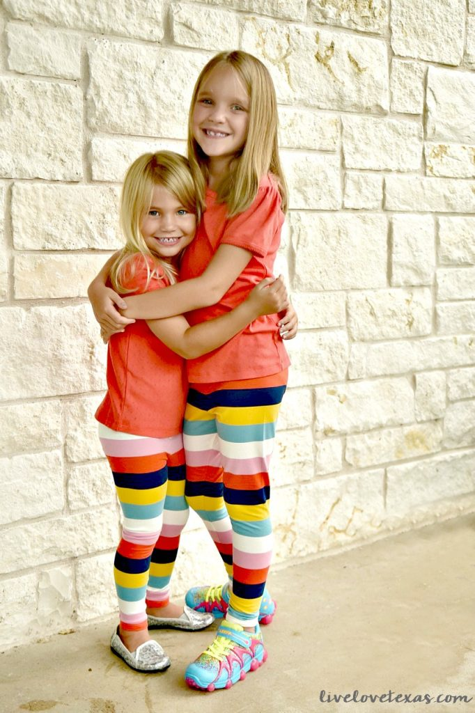 Sisters in Mini Boden for Back to School