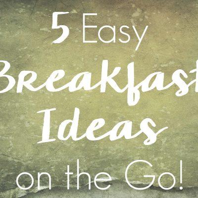 5 Easy Breakfast Ideas on the Go!