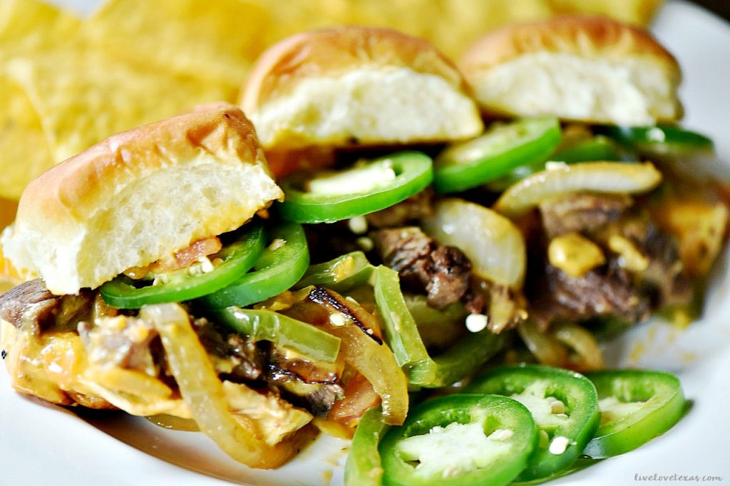 Do you love traditional Phillies? How about spice? Then you have to try this Tex Mex twist on the traditional sandwich - Spicy Texican Cheesesteak recipe.